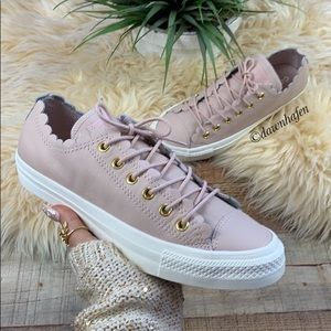 💫 Converse leather All Star scalloped low top!